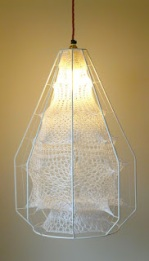 Ethereal Tall Cocoon Lampshade