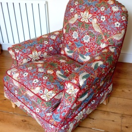 Armchair William Morris Loose Covers