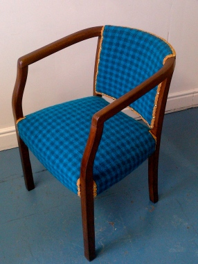 Blue Tartan Chair