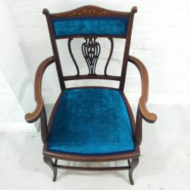 Blue Velvet Occassional Chair 2