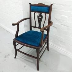 Blue Velvet Occassional Chair