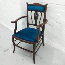 Blue Velvet Occassional Chair