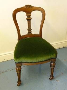 Green Velvet Dining Chair