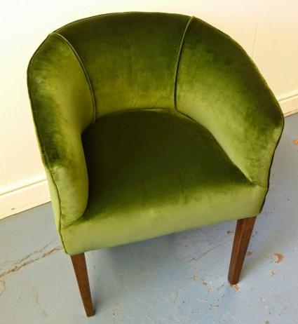 Green Velvet Tub Chair