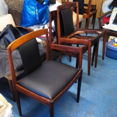 Leather Dining Chairs with back insert