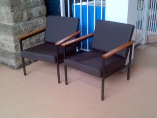 Leatherette Armchairs