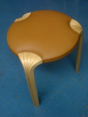 Round Leather Stool