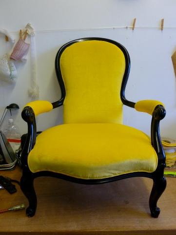 Yellow Velvet Chair